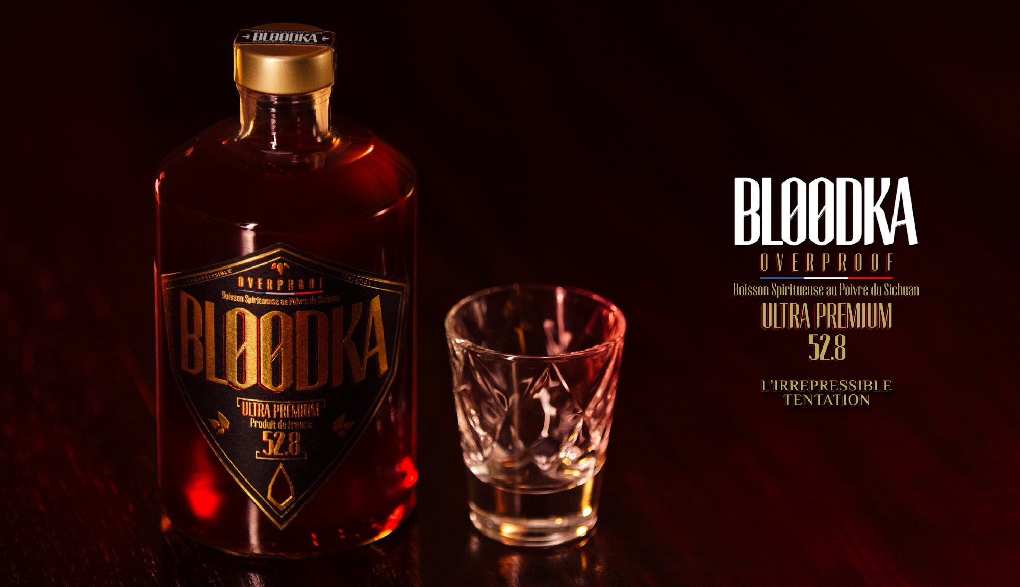 BLOODKA OVERPROOF 52.8 - THE FRENCH SPIRIT MADE IN FRANCE FROM SICHUAN PEPPER - ©ROC CHALIAND